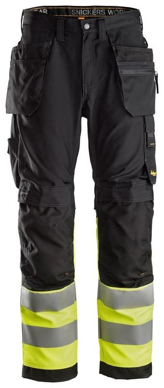 Snickers 6233 AllroundWork High-Vis Work Trousers Holster Pockets+ CL1