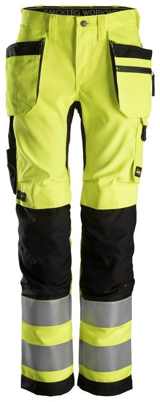 Snickers 6730 AllroundWork High-Vis Women's Work Trousers Holster Pockets+ CL2