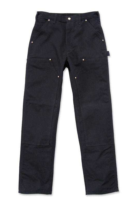 "Carhartt B01 Duck Double Front Logger Pant - 34"" Tall Black"